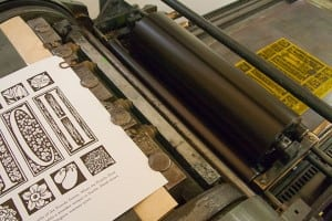 Letterpress allows O'Leary's to incorporate typography, design, fine-art printmaking and pre-press production all into the process. Photo courtesy: Chandler O'Leary/Anagram Press.