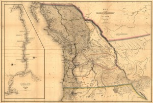 1841 Map of the Oregon Territory from Narrative of the United States Exploring Expedition.
