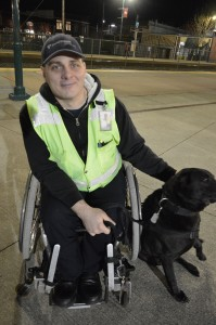 Dakota, a service dog and honorary station agent at Puyallup's Sounder Station, is trained to respond to commands in English, sign language and Hawaiian.