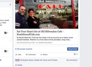 After sharing this article about Old Milwaukee Cafe on Facebook, our readers didn't hesitate to show their love for this popular Tacoma eatery.