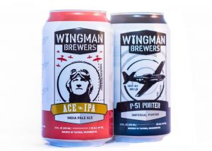Canned Wingman Beer