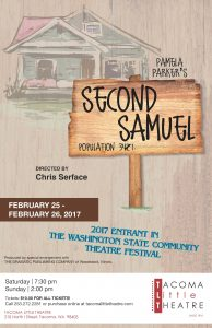 Tacoma Little Theatre Presents: Second Samuel @ Tacoma Little Theater | Tacoma | Washington | United States