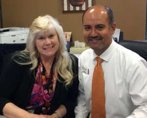 Cindy Sims and Jose Galvan