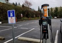 EV Charging Sign and Station