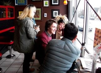 Valhalla Coffee Friends Talking