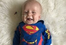 Baby Kent as Superman