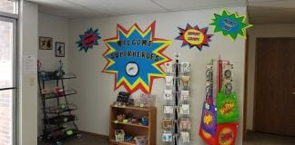 Superhero Shoppe Entrance