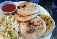 Pupusas with Salsa and Curtido