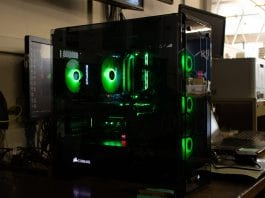 Green PC Gaming Tower