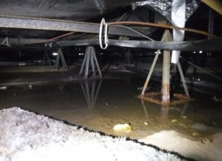 Crawlspace draining issues