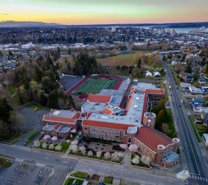 Aerial Lincoln High School Tacoma