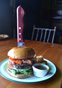 Camp Bar Lumberjack burger