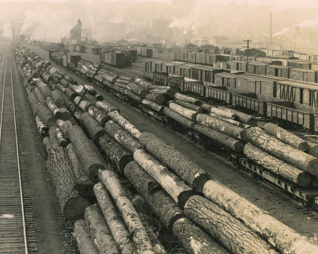 Northern Pacific Railway tracks taken in March of 1929