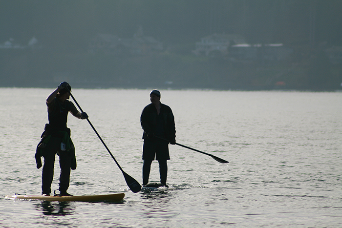 Paddleboarding in Olympia