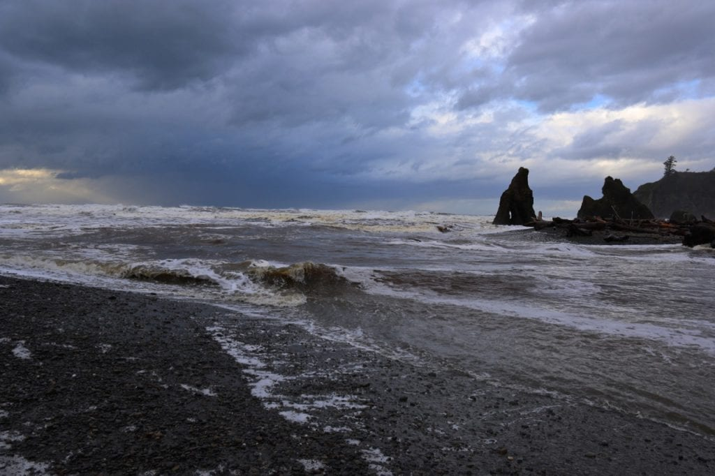Ruby Beach during a storm