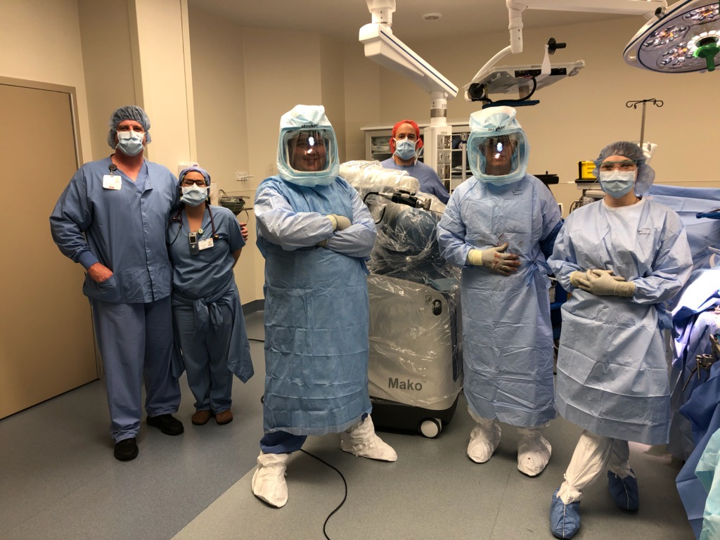 First CMC robotic total joint replacement team