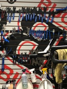 Buck's Bikes Wall of Tools