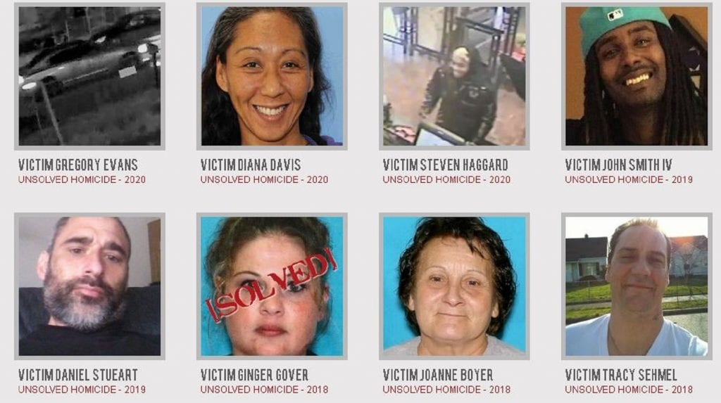 Unsolved Mysteries Pierce County