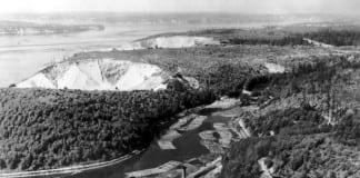 Timber operations at Chambers Bay circa 1940