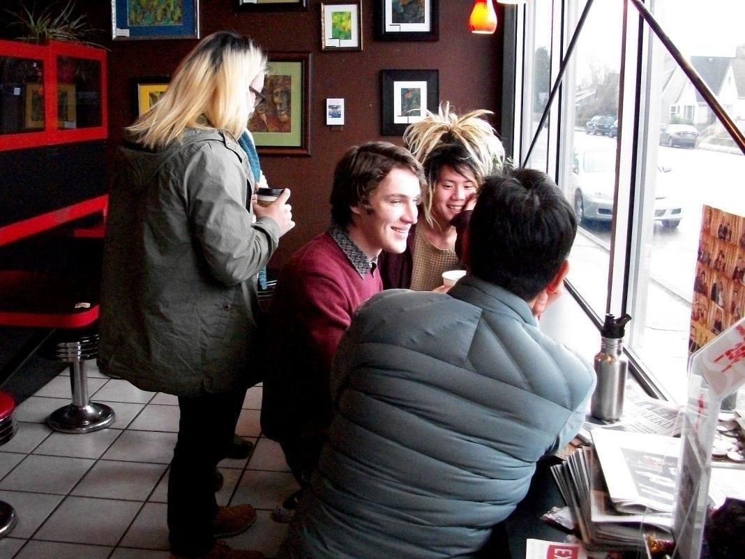 Valhalla Coffee Friends Talking