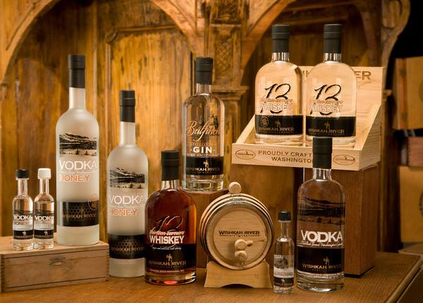 Products on Display Wishkah River Distillery