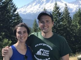 Dr. Borders and Dr. Jones at Mt Rainier