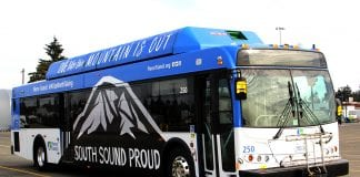 Pierce Transit South Sound Wrapped Bus