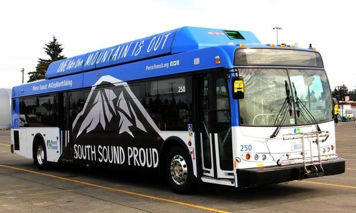 Pierce Transit South Sound Wrapped Bus