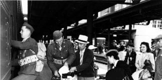 Japanese departing for internment