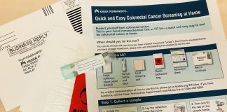 FIT kit colon cancer screening