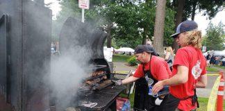 BBQ on grill at BBQ Festival