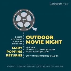 Free Outdoor Movie Night @ Praise Covenant Church